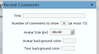 Configuracion del Widget de Comentarios Recientes en WordPress.com