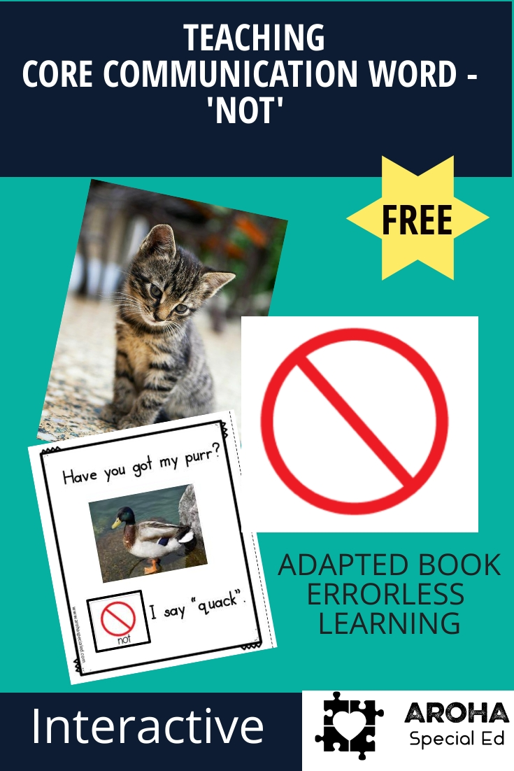 adapted book to teach core word not based on Have You Got My Purr