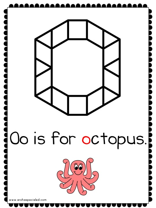 Photo of O is for octopus page