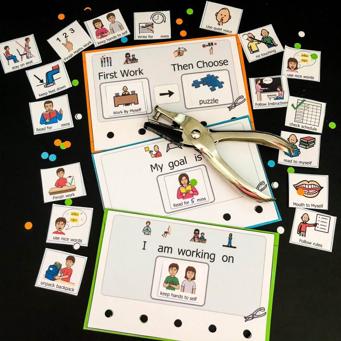 3 positive behavior certificates - work first then, I am working for, My goal is and some picture examples containing work and behavior goals. Free product to download. Great for any special ed setting.