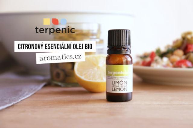 Citronový esenciální olej BIO jako aroma do jídla