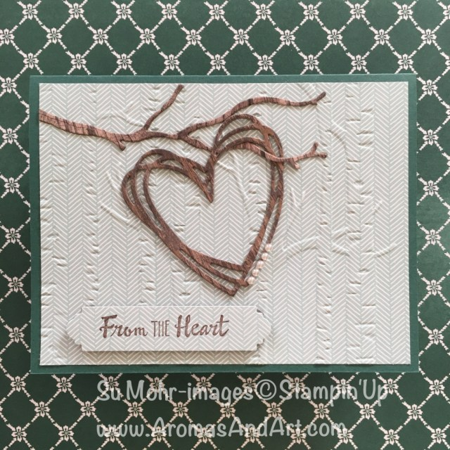 By Su Mohr for TGIF; click visit to go to my blog for details; Featuring: Sunshine Wishes, Seasonal Layers, Wood Textures, Woodland embossing, Petal Palette; #sympathycard #sunshinewishes #woodtextureheart