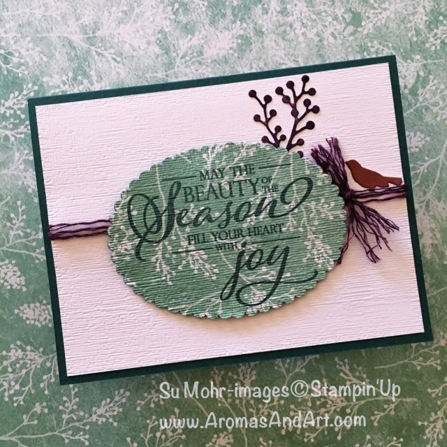 By Su Mohr for FF150; Click READ or VISIT to go to my blog for details! Featuring: Frosted Floral DSP, Merry Christmas To All stamp set, Subtle Textured embossing, Nature's Twine, Frosted Bouquet dies, Layering Ovals dies; #christmascards #holidaycards #xmascards #handmadecards # merrychristmastoall #frostedfloral #frostedbouquet #stampinup #greenwithenvy