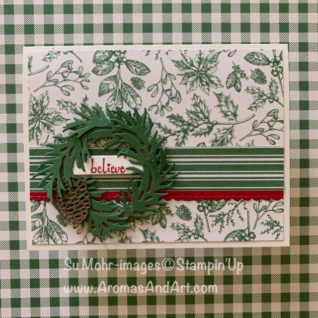 By Su Mohr for GDP; Click READ or VISIT to go to my blog for details! Featuring: Beautiful Boughs Dies, Merry Christmas Dies, Layering Circles Dies, Be Mine Stitched Dies; Toile Tidings DSP, Itty Bitty Christmas stamp set; #christmascards #holidaycards #toiletidings #beautifulboughs #handmadecards #handcrafted #cardmaking #cardsketches #wreaths #holidaywreaths #cardsketches