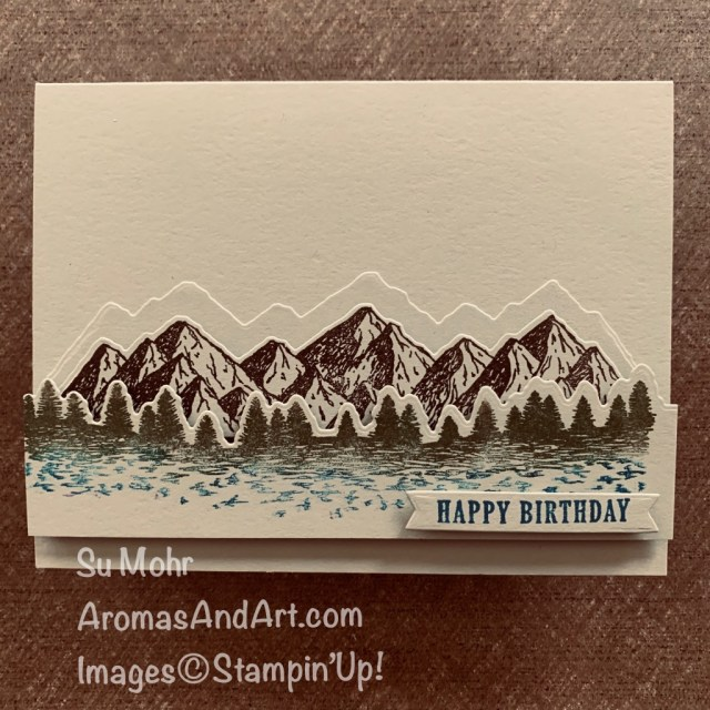 By Su Mohr; Click READ or VISIT to go to my blog for details! Featuring: Mountain Air Stamp Set, Majestic Mountain Dies, Golf Club Dies, Clubhouse Stamp Set
