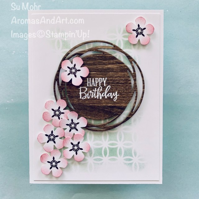 By Su Mohr for GDP; Click READ or VISIT to go to my blog for details! Featuring: Thoughtful Blooms Stamp Set, Small Bloom Punch, Peaceful Moments Stamp Set, Painted Labels Dies, Pressed Petals DSP, Laser-Cut Paper; #cardtechniques #heatembossing #stenciling #thoughtfulblooms #peacefulmoments #paintedlabels #pressedpetals #birthdaycards #handmadecards #handcrafted #diy #cardmaking #2020minicatalog #2020stampinup #papercrafting