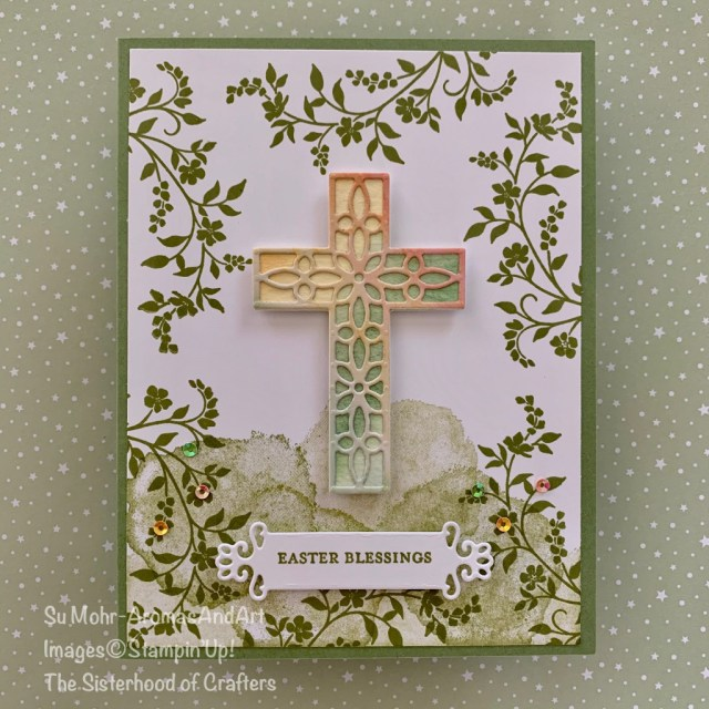 By Su Mohr for Sisterhood of Crafters Design Team; Click READ or VISIT to go to my blog for details! Featuring: Cross of Hope Dies, Hold On To Hope Stamp Set, Ornate Frames Dies, Itty Bitty Greetings Stamp Set, Painted Poppies Stamp Set; #eastercards #crossesoncards #religiouscards #easter #holdontohope #crossofhope #handmadecards #handcrafted #diy #cardmaking
