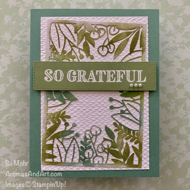 By Su Mohr for Fab Friday; Click READ or VISIT to go to my blog for details! Featuring: Forever Gold Laser-Cut DSP, Ornate Layers Dies, Tasteful Textile embossing, Ornate Thanks Stamp Set; #thankyoucards #grateful #forevergoldlaser-cutpaper #laser-cutpaper #handmadecards #handcrafted #diy #cardmaking #papercrafting #tastefultextile #carsketches #cardchallenges #coloringtechniques