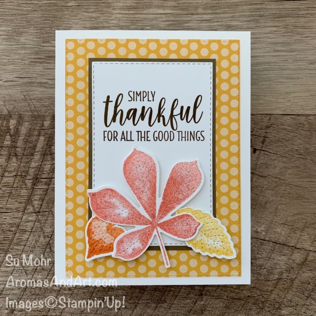 By Su Mohr for FMS; Click READ or VISIT to go to my blog for details! Featuring: Love of Leaves Bundle; Country Home Stamp Set, 6X6 Designer Paper, Stitched Rectangles Dies; #thanksgivingcards #fallcards #leaves #leavesoncards #loveofleaves #stitchedleaves #handmadecards #handcrafted #diy #cardmaking #papercrafting #cardinstruction #cardsketches #cardchallenges #stampinup
