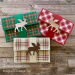 By Su Mohr for Pals Blog Hop; Click READ or VISIT to go to my blog for details! Featuring: Moose Punch, Pliad Tidings Paper, In Good Taste Paper; #giftcardholds #lastminutegifts #christmasgifts #holidaycards #christmascards #pliad #plaidoncards #bloghops #handmadecards #handcrafted #moose #mooseoncards #papercrafting #diy #cardmaking