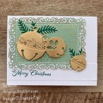 By Su Mohr for FMS; Click READ or VISIT to go to my blog for details! Featuring: Cherish The Season Bundle, Brushed Metallic paper, Ornate Garden Designer paper, Ornate layers Dies; #chrictmascards #holidaycards #bells #bellsoncards #christmasbells #metallicbells #cherishtheseason #soundsoftheseason #handmadecards #handcrafted #diy #cardmaking #papercrafting #stampinup #holiday2020