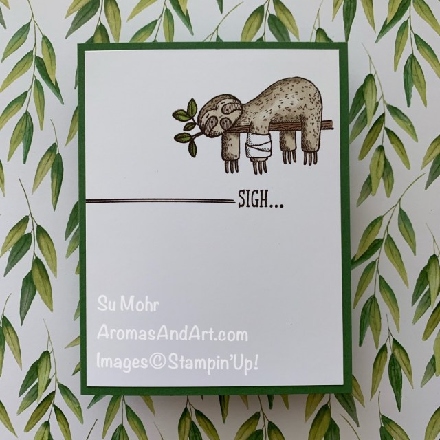 By Su Mohr for cts; Click READ or VISIT to go to my blog for details! Featuring: Back On Your Feet Stamp Set, Swirly Frames Stamp Set, Stampin' Blends; #sloths #slothsoncards #backonyourfeet #getwellcards #encouragementcards #covidcards #pandemic #sympathycards #cardsketches #handmadecards #handcrafted #diy #cardmaking #papercrafting