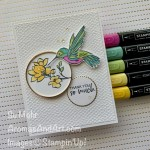 By Su Mohr for TGIF; Click aromasandart to go to my blog for details! Featuring: A Touch Of Ink Stamp Set, Gold Hoops, Layering Circles Dies, Stampin