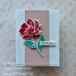 By Su Mohr for GDP281; Click aromasandart to go to my blog for details! Featuring: Art Gallery Bundle, Floral Gallery Dies, Art Gallery Stamp Set, Tasteful Textile Embossing Folder, Ornate Layers Dies; #thankyoucards #flowersoncards #artgallery #floralgallery #gdp281 #globaldesignproject #stampinup #sumohr #aromasandart #handmadecards #handcrafted #diy #cardmaking #papercrafting #colorcombos #cardchallenges