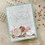 By Su Mohr for GDP287; Click aromasandart to go to my web site for details! Featuring: Seabed Embossing Folder, Friends Are Like Seashells Stamp Set, Stitched So Sweetly Dies, Braided Linen Trim, Opal Rounds, Whale Of A Time Sequins; #friendsarelikeseashells #seashells #shells #shellsoncards #seabedembossing #handmadecards #handcrafted #diy #cardmaking #papercrafting #sumohr #aromasandart #stampinup #lastchancesale #stampinupsale #cardthemes #cardchallenges