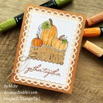 By Su Mohr for TGIF; Click aromasandart.com to go to my website for instructions! Featuring: Pretty Pumpkins Bundle, Cork Specialty Paper, Scalloped Contours Dies, Tasteful Textile Embossing Folder; #prettypumpkins #pumpkins #pumpkinsoncards #thanksgivingcards #cork #scallopedcontours #handmadecards #handcrafted #diy #cardmaking #papercrafting #sumohr #aromasandart.com/shop #stampinup #stamping