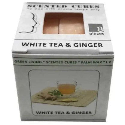 white tea & ginger, scented cubes, waxmelts, scentchips,