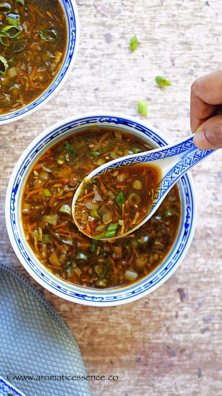 Hot and Sour Soup (Vegan, Indian Chinese Style)