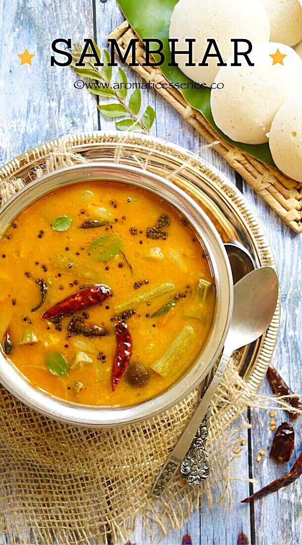 Sambhar (South Indian lentil and vegetable stew)