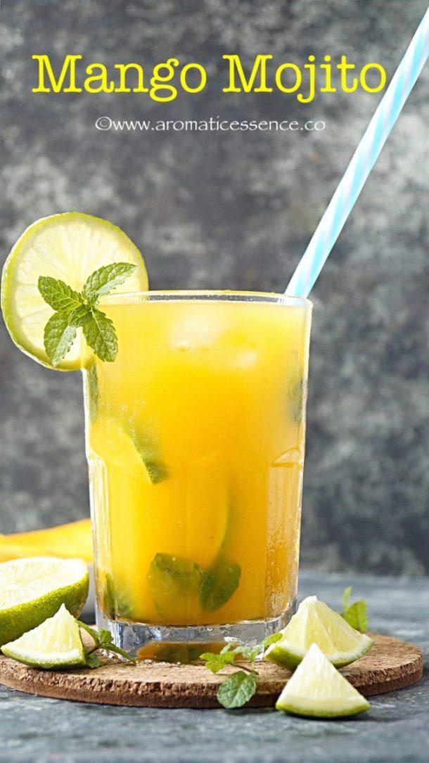 Mango Mojito Recipe {Non-Alcoholic} | Virgin Mango Mojito