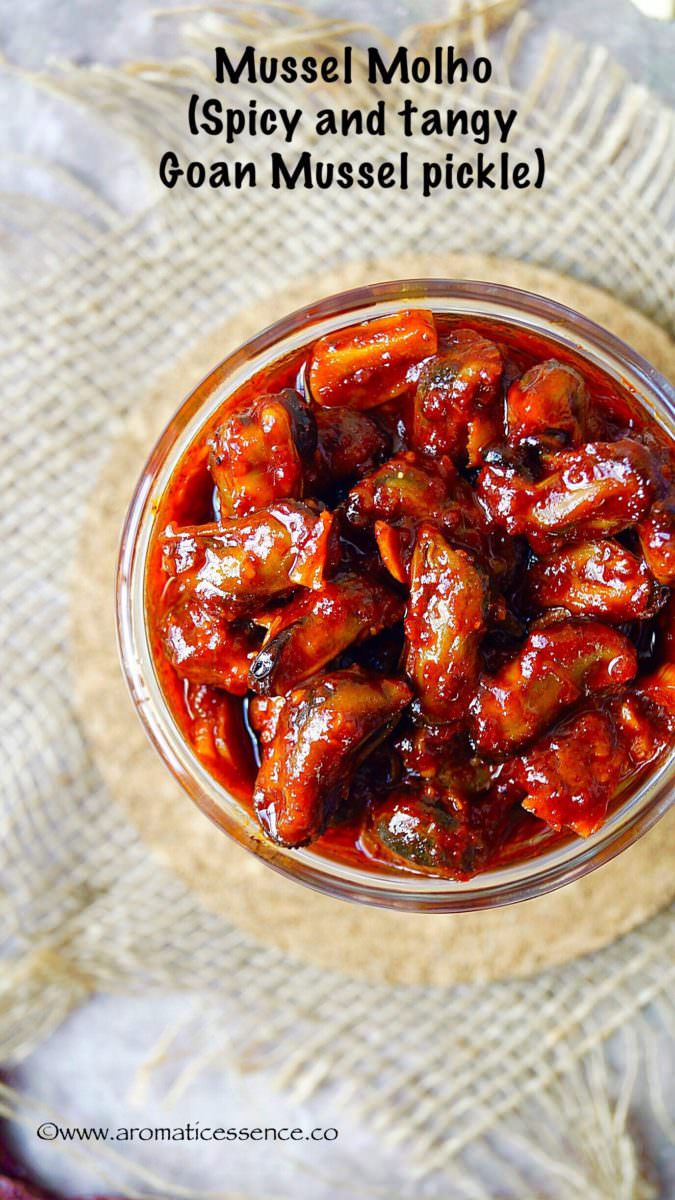 Mussel molho (Spicy and tangy Goan Mussel pickle)