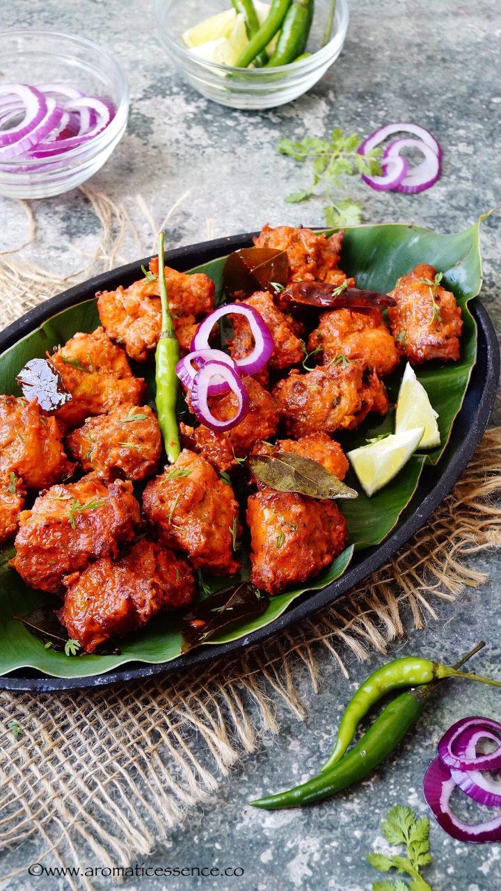 Chicken 65 (Baked Version) | Indian Fried Chicken