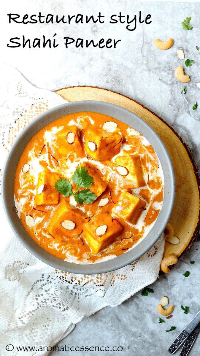 Shahi paneer recipe | Restaurant style Shahi paneer
