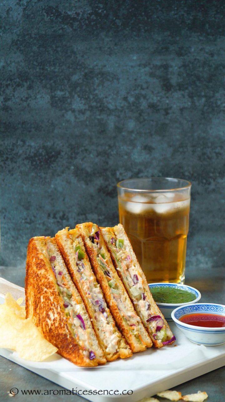 Vegetable Mayonnaise Sandwich Recipe | Mayo Sandwich | Grilled Mayo Sandwich