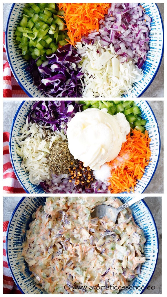 veggie mayo mixture