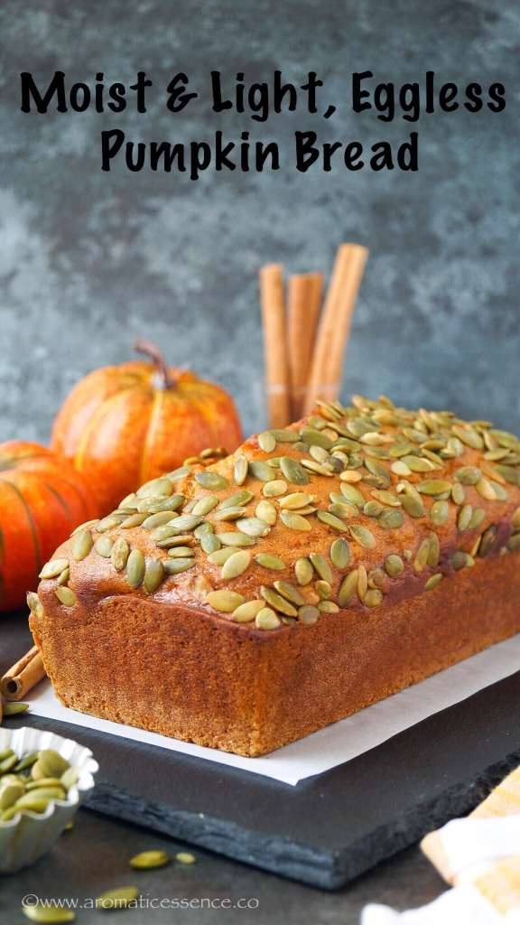 Pumpkin Bread Recipe (Eggless) | How To Make Pumpkin Bread
