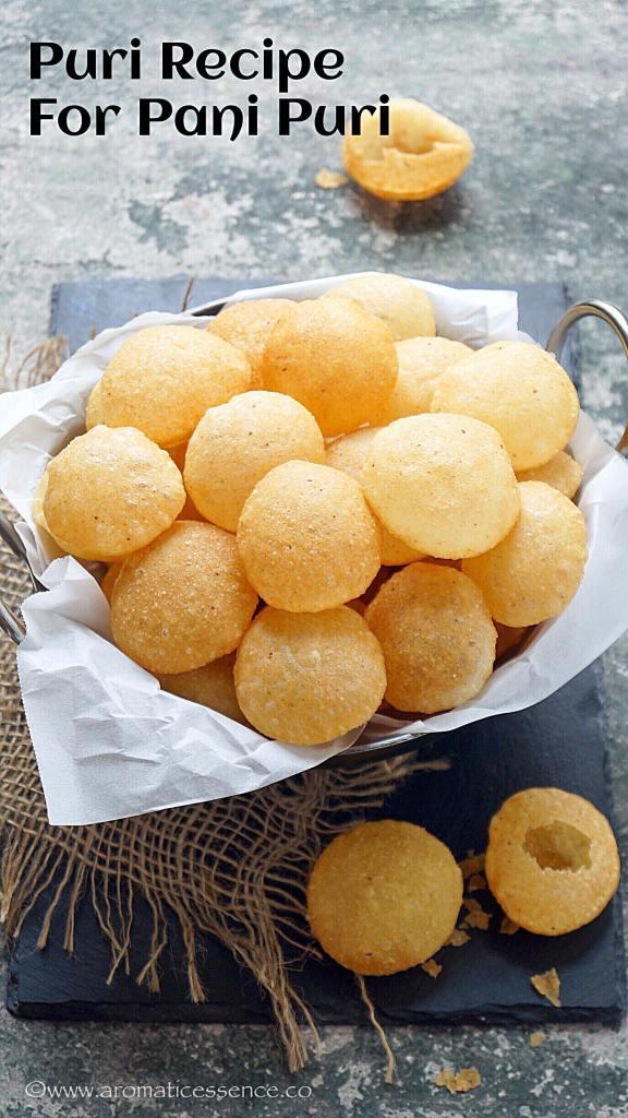 Puri Recipe for Pani Puri   How To Make Suji Golgappa