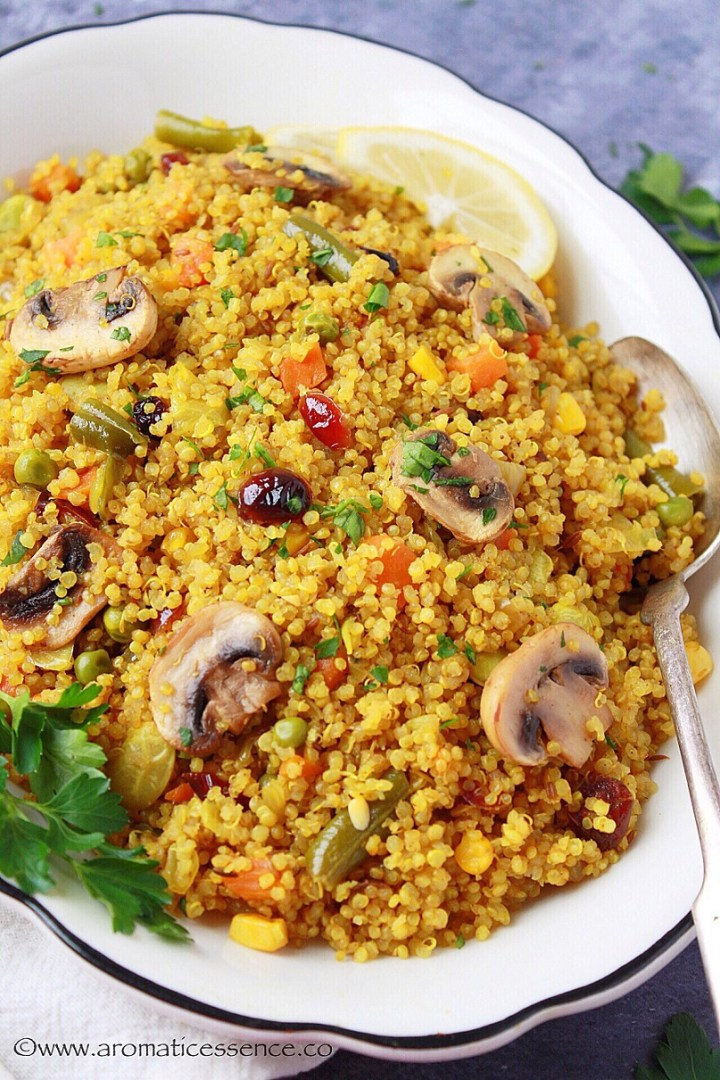 Quinoa and vegetable Pilaf
