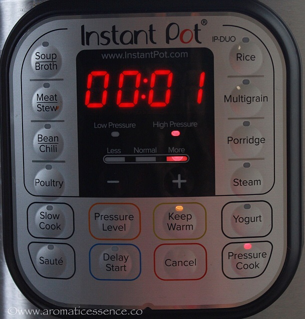 Instant Pot cook time for quinoa