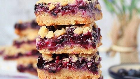 Blueberry Crumb Bars {Eggless}