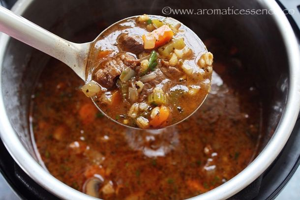 Simple beef barley soup
