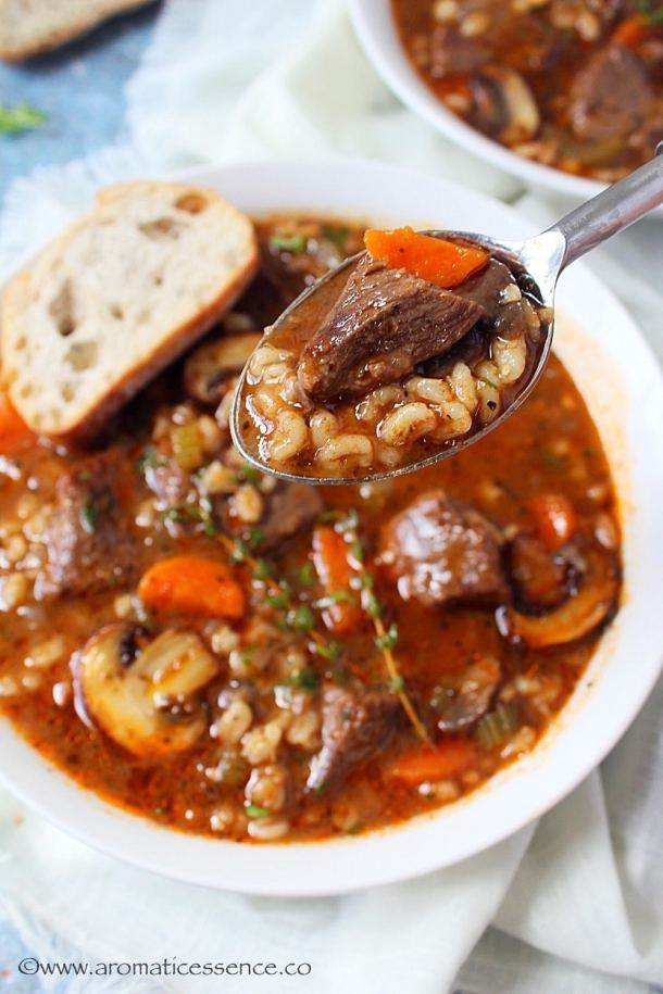 Best ever beef barley soup