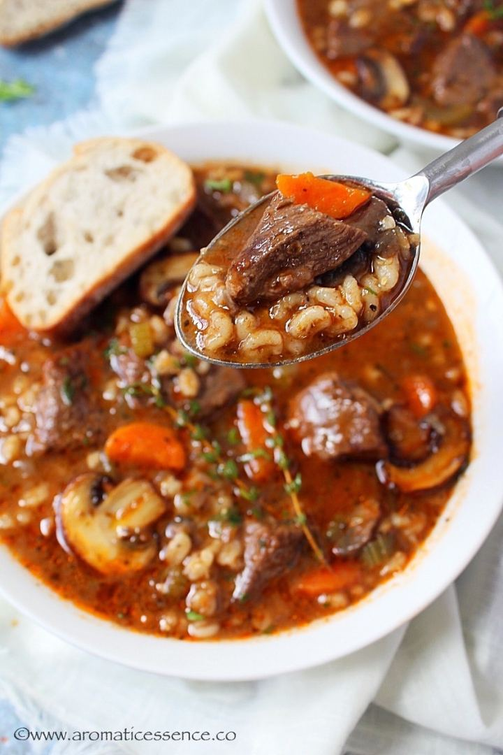 Best ever beef barley soup