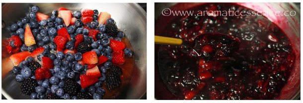 Preparation of berry compote