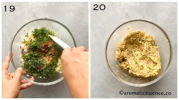 Prepared potato filling