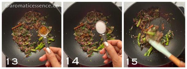 Add garam masala, and salt
