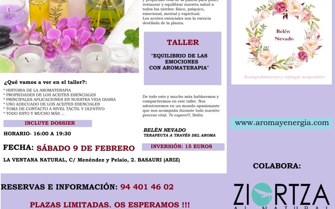 """Taller  """"EQUILIBRIO DE LAS EMOCIONES CON AROMATERAPIA"""", Sábado 9 de Febrero"""