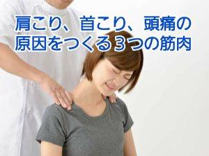 肩こり,首こり,頭痛,解消法