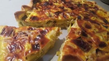 tarte poireaux et oignon