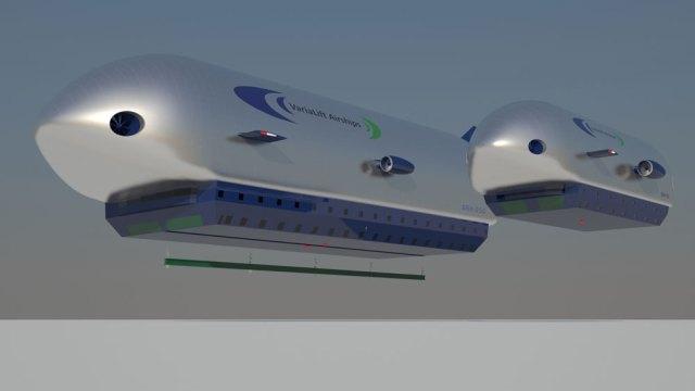 Les Zeppelins ARH 50 et 250 dirigeable à portance variable