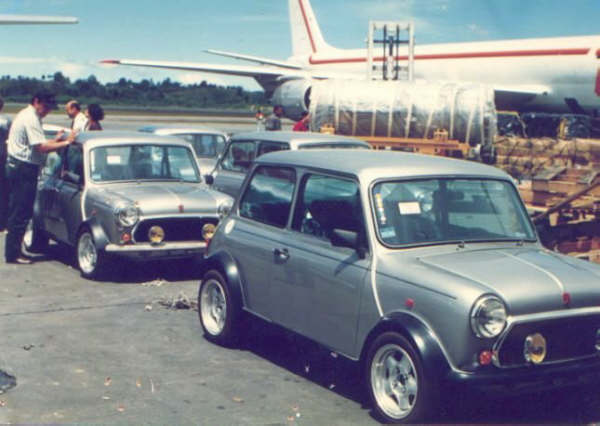 Minis awaiting despatch. Note the pretty road wheels.