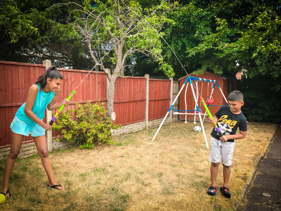 Shalini and Shivam get ready for a water fight