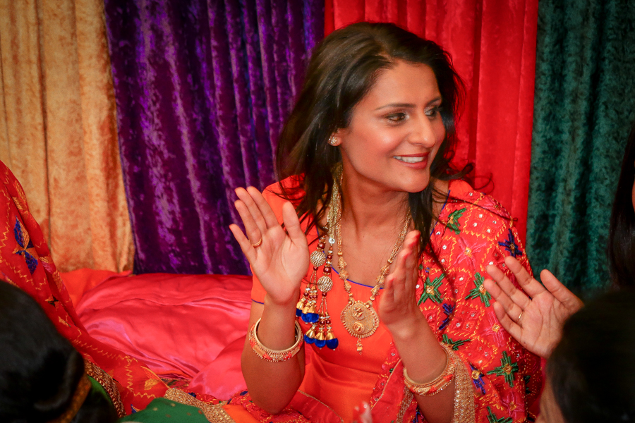 What I Wore - Orange Suit On The Sangeet Night