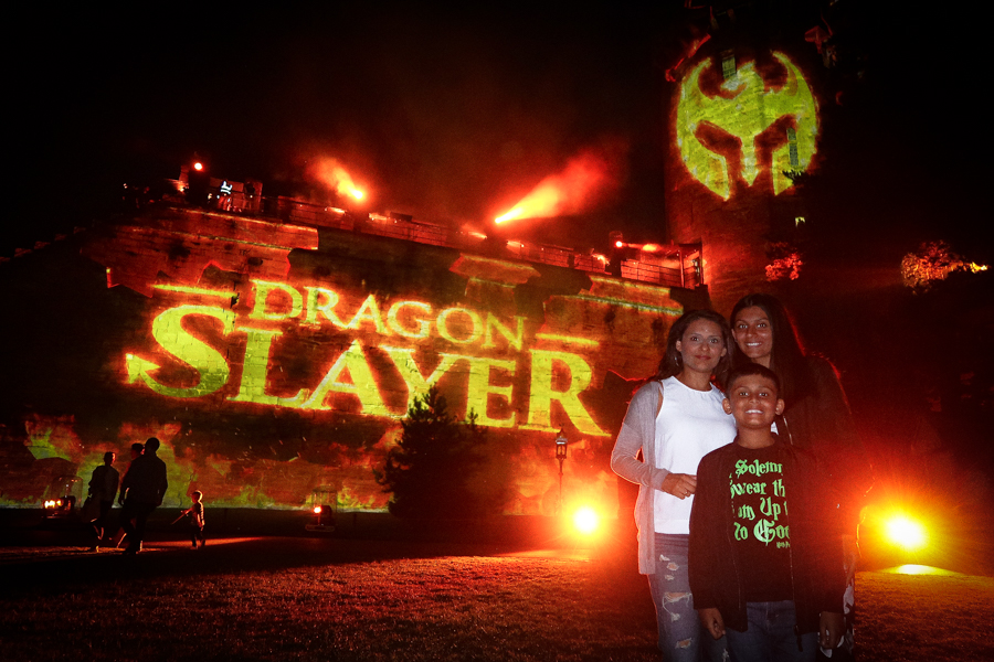 Slaying Dragons - The kids and I after the show has ended