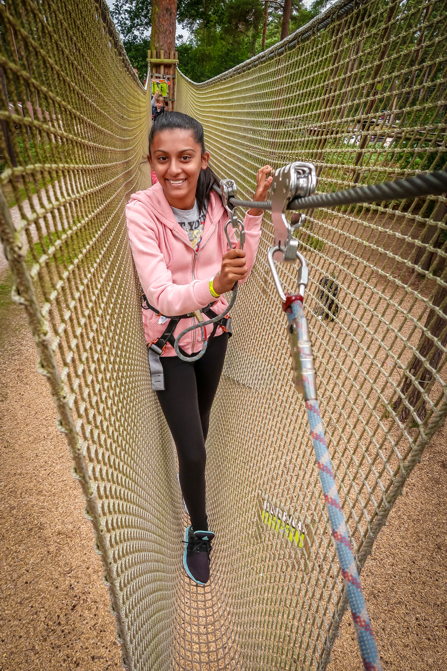 Go Ape - Shalini crossing the nets