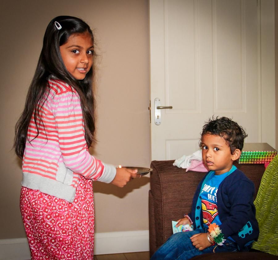 Brother-Sister Day - Shalini Preparing For Rakhi
